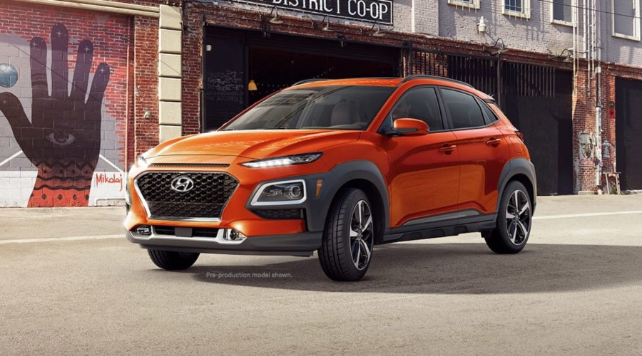 2019 Hyundai Kona in Sunset Orange