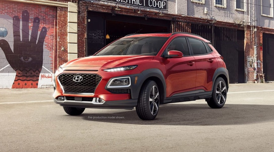 2019 Hyundai Kona in Pulse Red