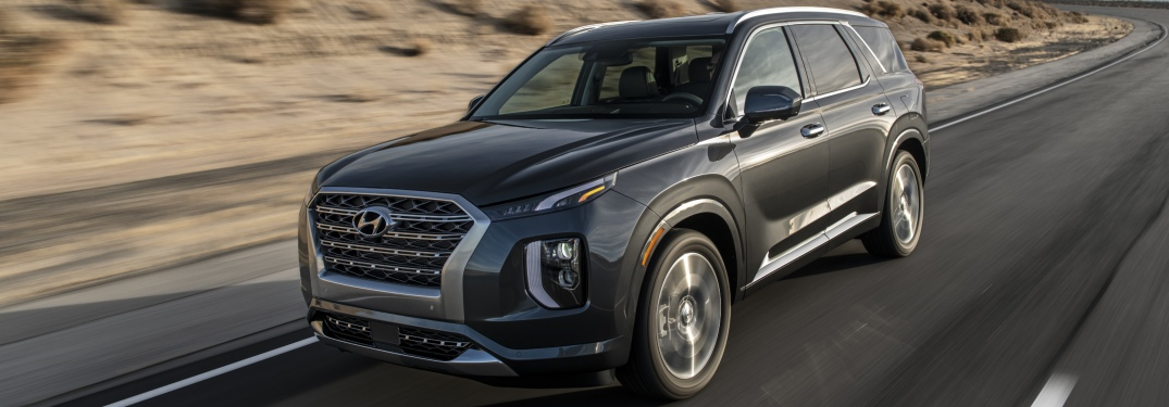 2020 Hyundai Palisade driving on open road