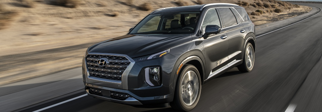 2020 Hyundai Palisade driving on desert road