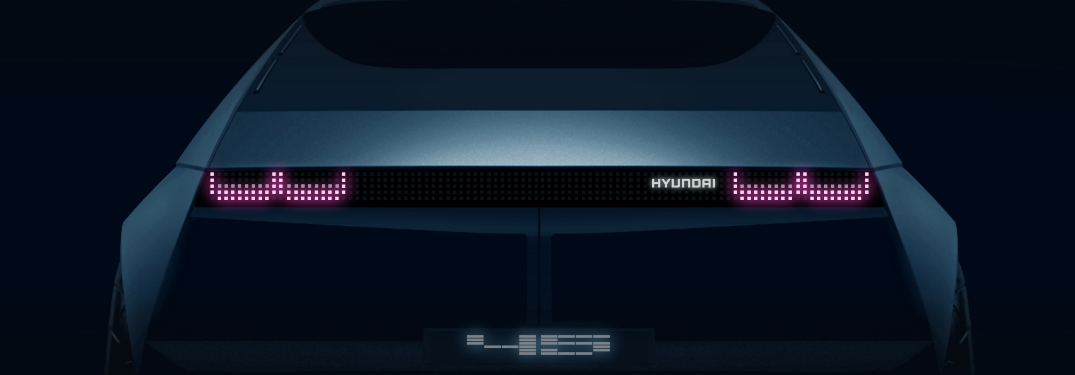 Promotion image of the new Hyundai EV Concept vehicle