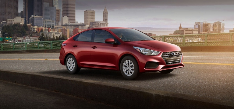 2020 Hyundai Accent Pomegranate Red
