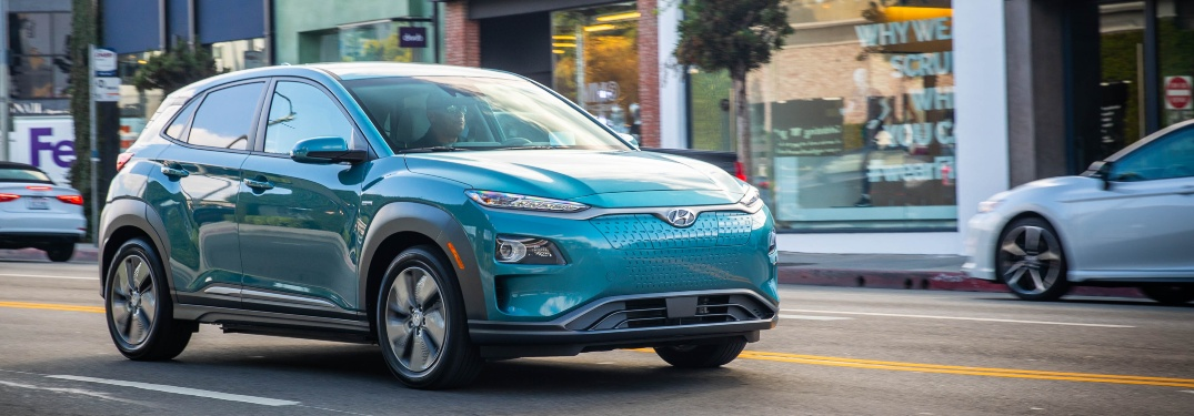 2020 Hyundai Kona Electric going dong road