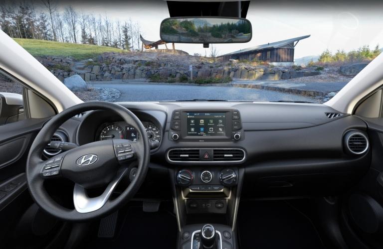 2020 Hyundai Kona Black Cloth Interior