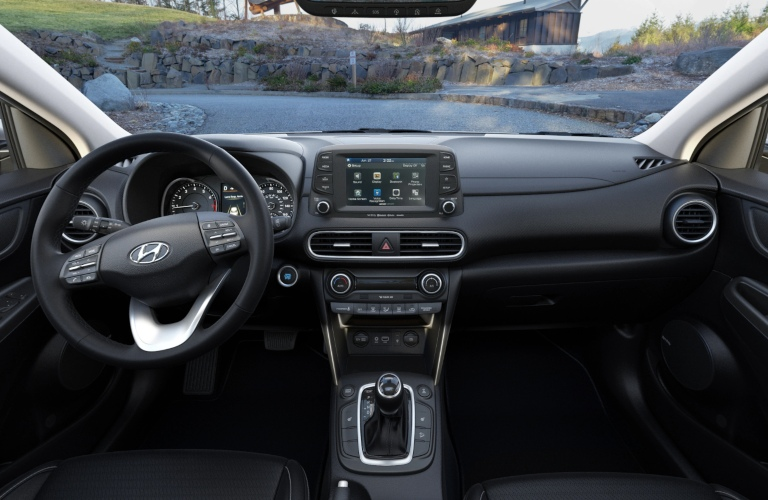 2020 Hyundai Kona Black Leather Interior