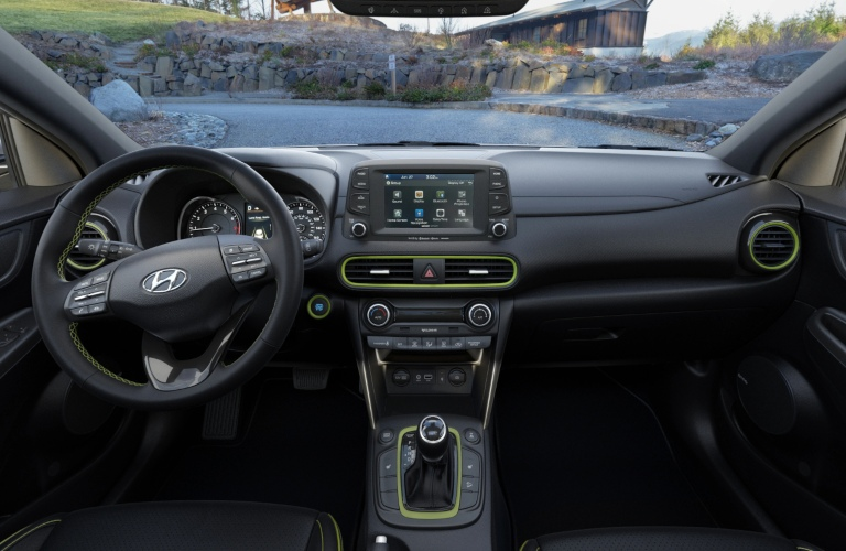 2020 Hyundai Kona Black Lime Leather