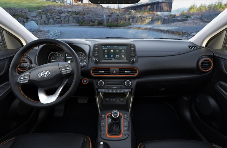 2020 Hyundai Kona Black Orange Leather