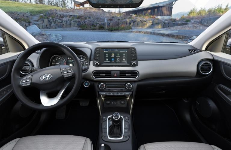 2020 Hyundai Kona Gray Leather Interior