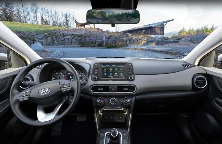 2020 Hyundai Kona Gray Cloth Interior