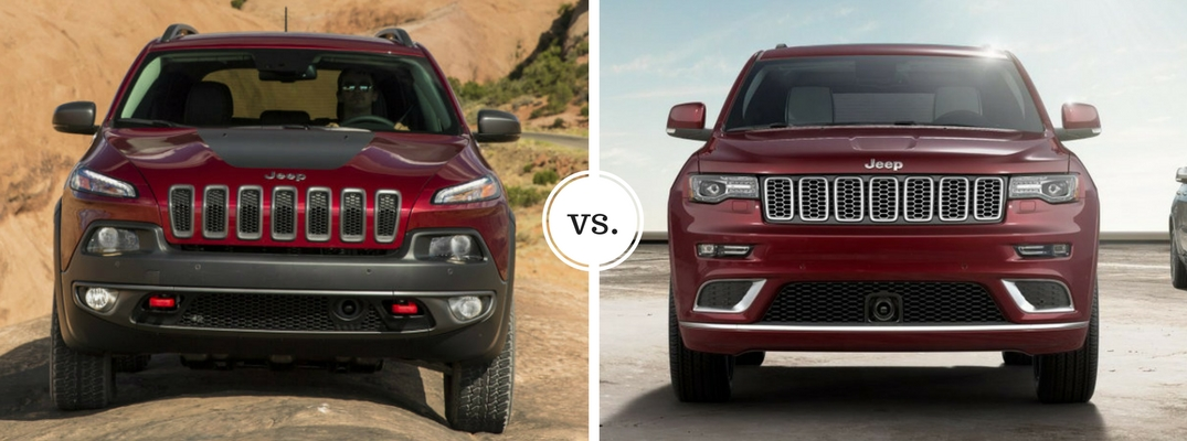 Jeep Cherokee Vs Grand Cherokee >> 2017 Jeep Cherokee Vs 2017 Jeep Grand Cherokee