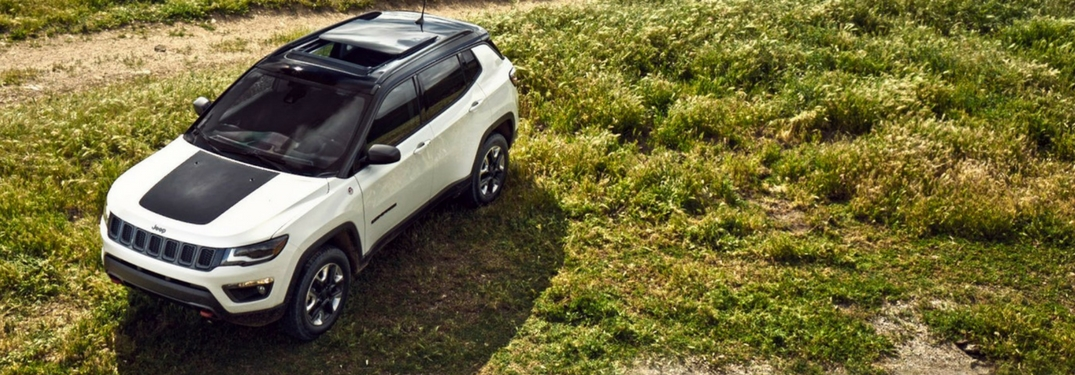 2018 jeep compass trailhawk two-tone color overhead view