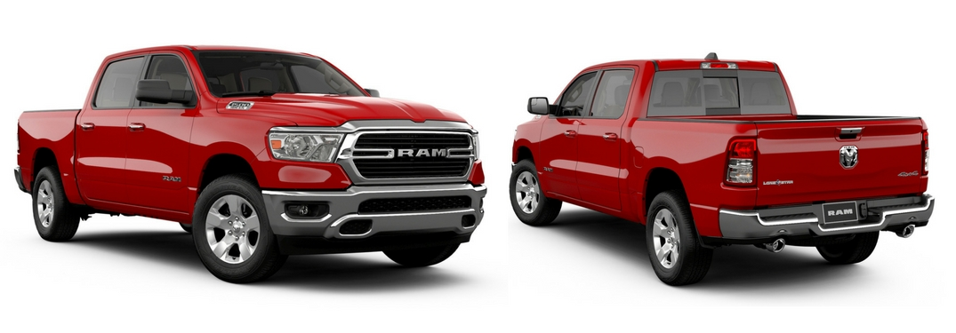 2019 ram 1500 lone star front and rear view