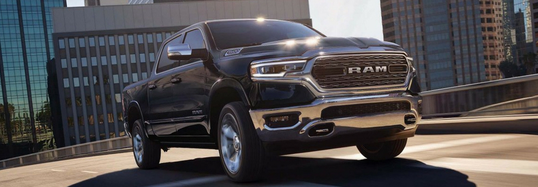 2019 ram 1500 front view parked