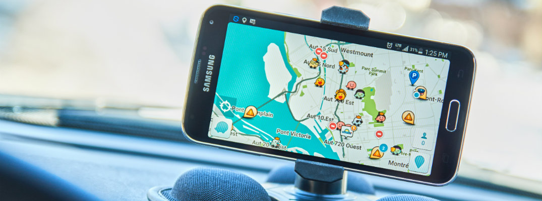 GPS on a dashboard