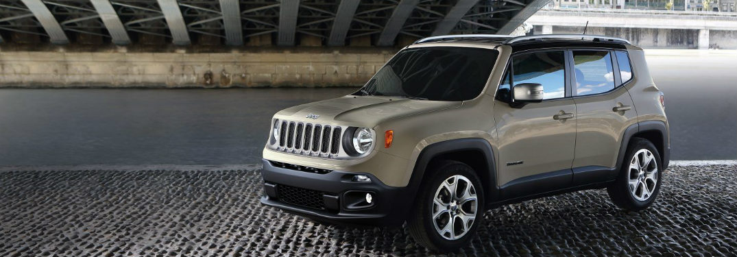 2018 Jeep Renegade under a bridge
