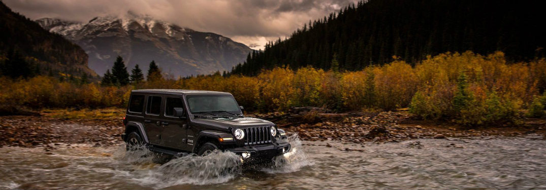 2018 Jeep Wrangler driving through water