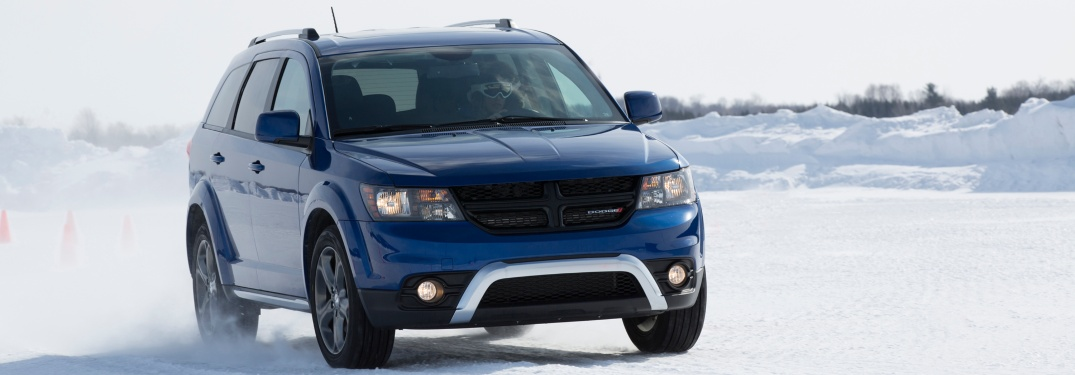 2019 Dodge Journey driving in the snow