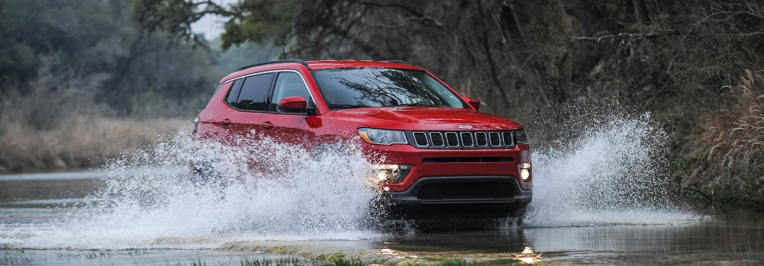 2019 Jeep Compass driving through water