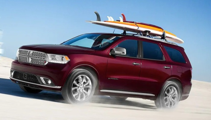 2019 Dodge Durango driving on a beach