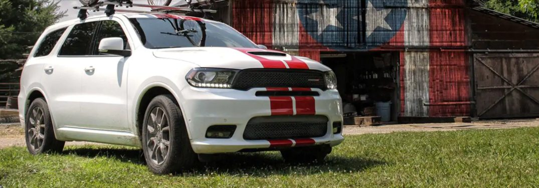2019 Dodge Durango parked in front of a barn