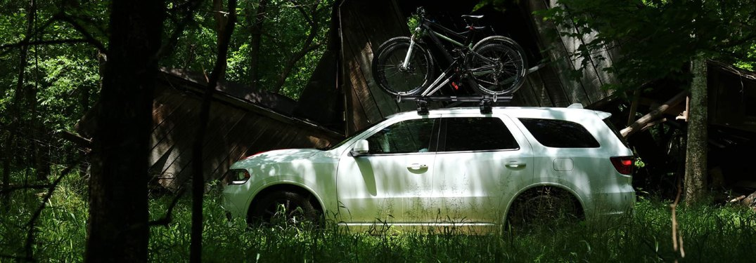 2019 Dodge Durango driving through the forest