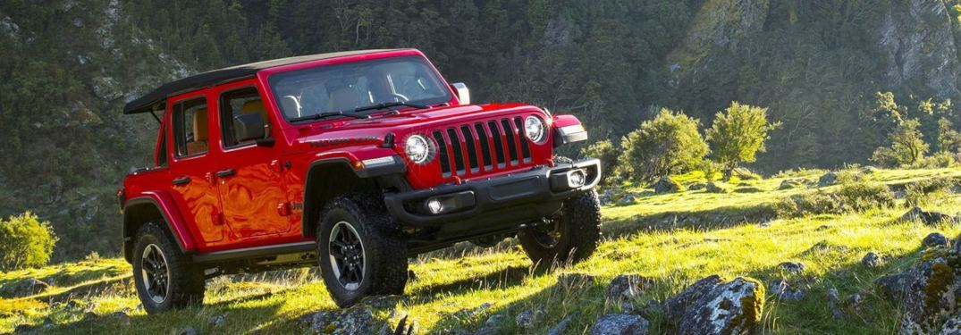2019 Jeep Wrangler driving on a mountain