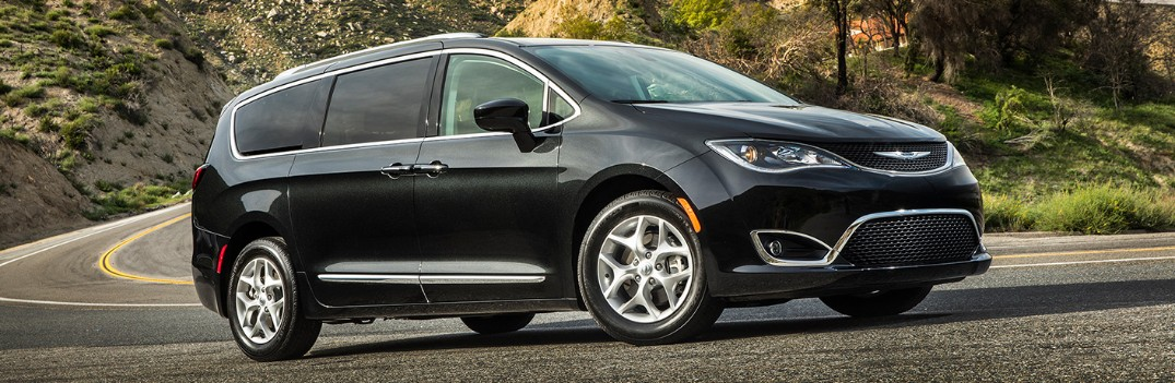 2019 Chrysler Pacifica driving around a curve