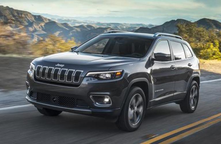 2020 Jeep Cherokee driving down road