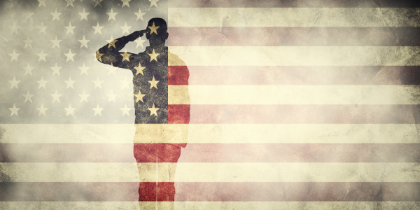 Soldier Saluting The American Flag B Montano Acura