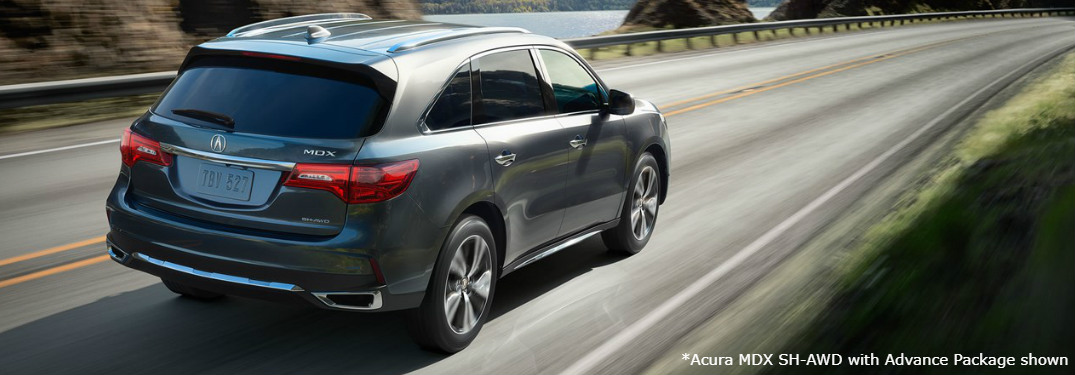 2018 Acura MDX exterior driving down highway