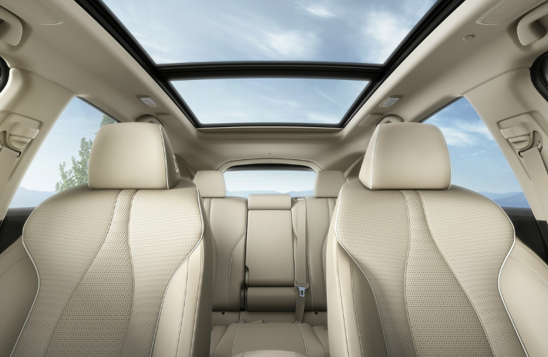 2019 Acura RDX interior view showing moonroof