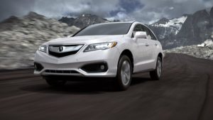 2018 Acura RDX in White Diamond Pearl