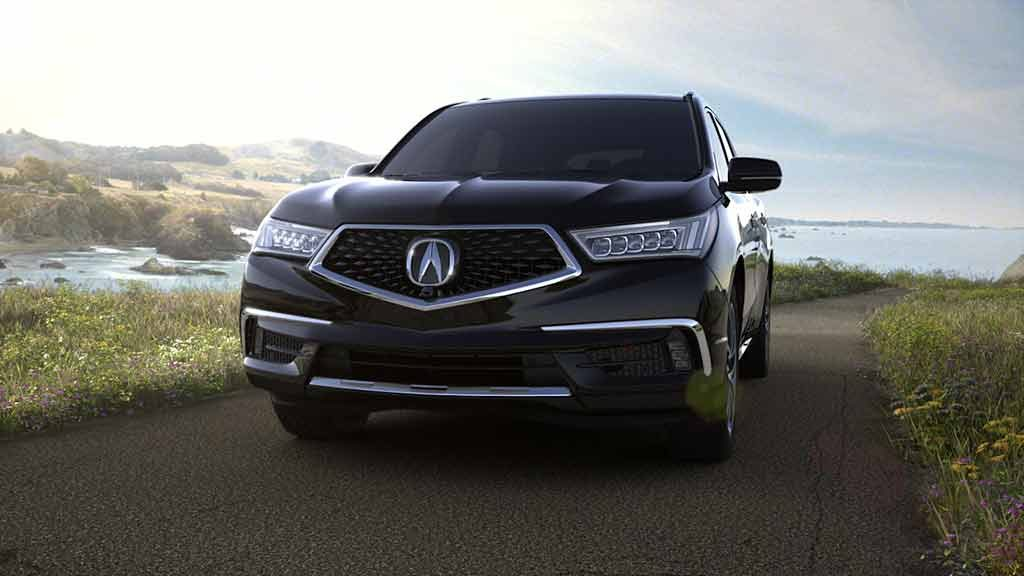 2018 Acura MDX in Crystal Black Pearl