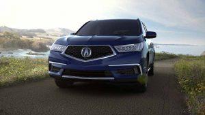 2018 Acura MDX in Fathom Blue Pearl