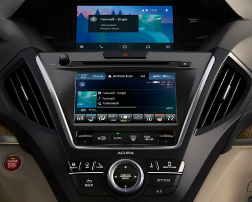 Center touchscreen system of 2019 Acura MDX