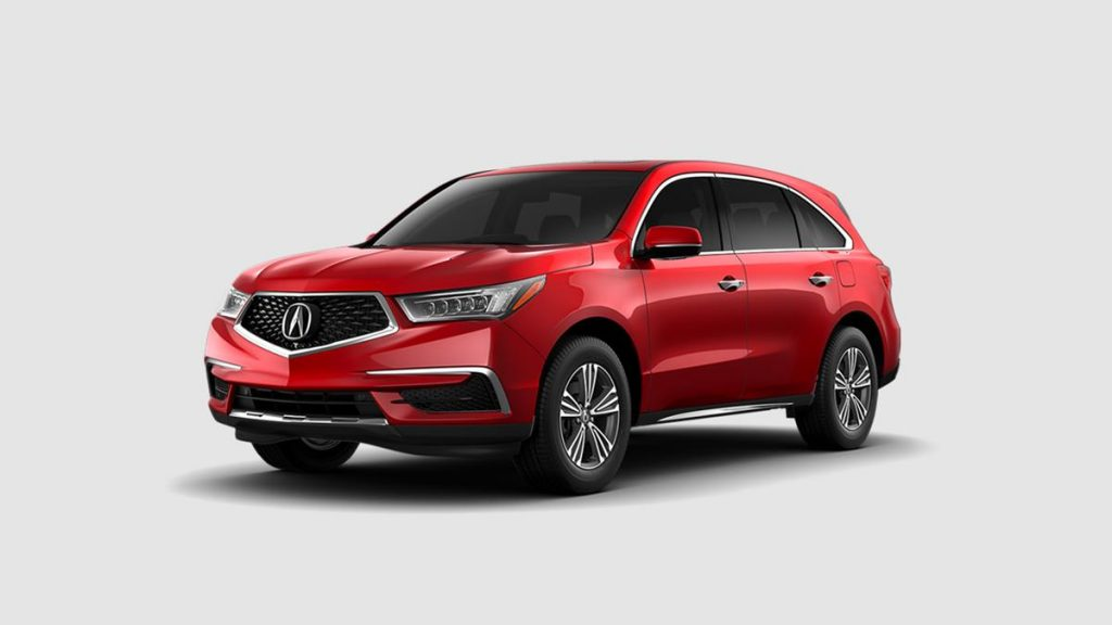 2019 Acura MDX in Performance Red Pearl