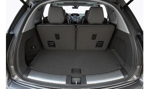 2019 Acura MDX cargo space with seats up