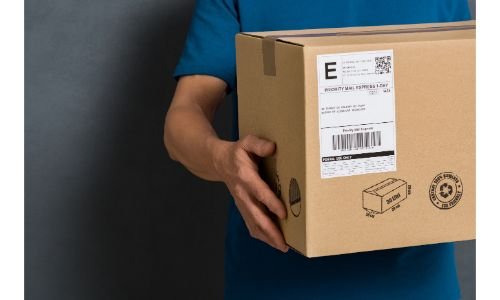 Hands holding a large box