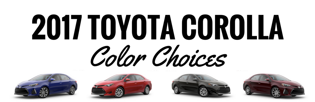 what colors are available on the 2017 toyota corolla - Paint Color Options