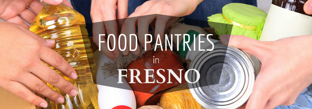 Food Pantries in Fresno Title over Various Food Items