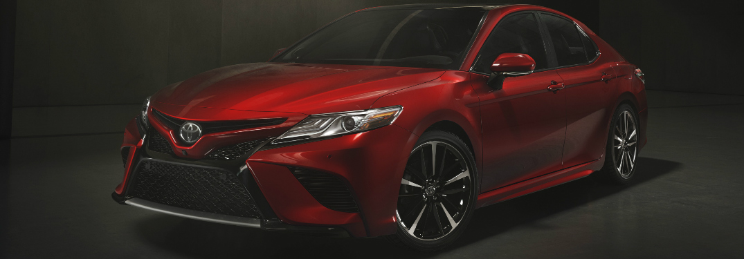 Front View of Red 2018 Toyota Camry