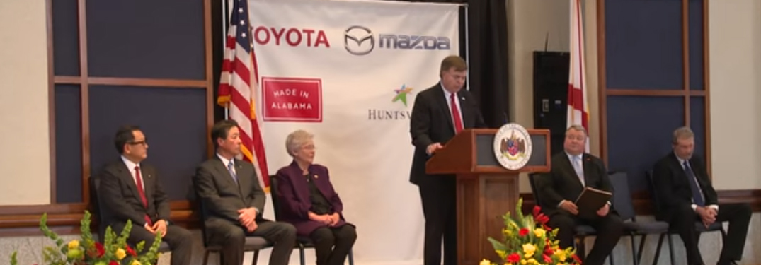 Toyota, Mazda and Alabama Officials at Press Conferance for the Announcement of Manufacturing Plant