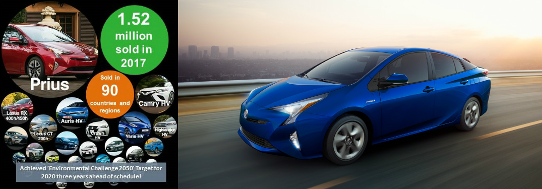 Toyota Electrified Vehicles Graphic and Blue 2018 Toyota Prius