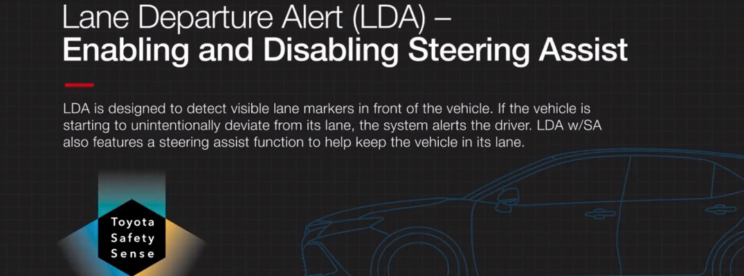 Toyota Lane Departure Alert Heading and Description