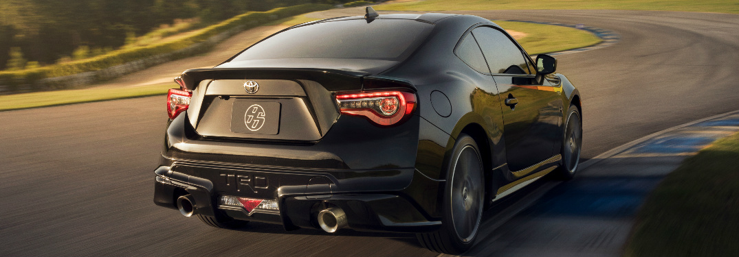 Black 2019 Toyota 86 Driving on a Racetrack