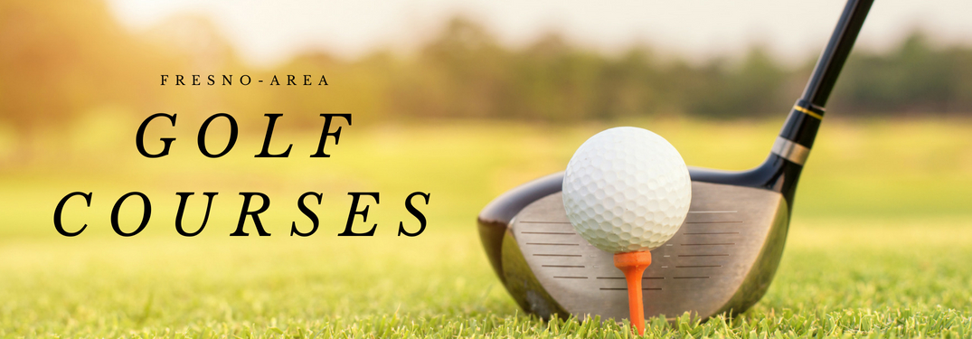 Fresno-Area Golf Courses Title, Golf Club, and Golf Ball