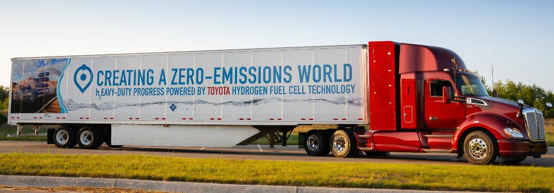 Side View of Toyota Project Portal 2.0 Zero Emissions Heavy-Duty Truck