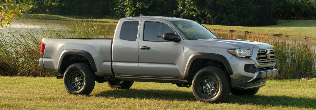 Side View of Grey 2019 Toyota Tacoma SX