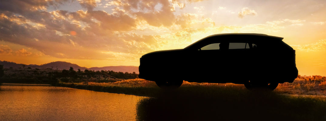 A teaser image of the 2019 Toyota RAV4 in silhouette.