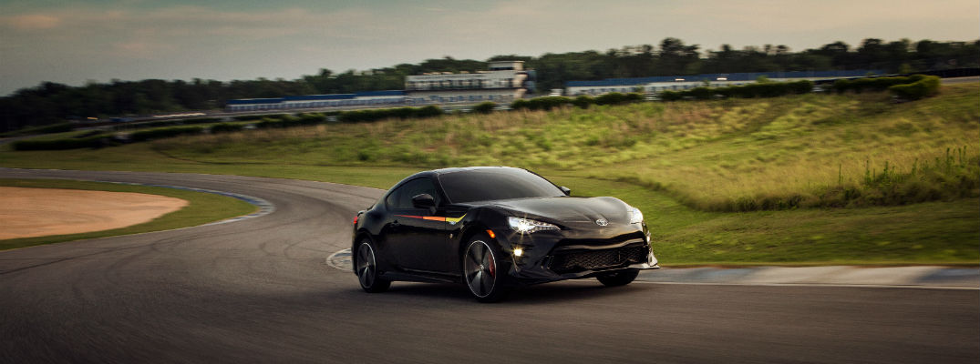 A photo of the 2019 Toyota 86 TRD Special Edition going around a race track.